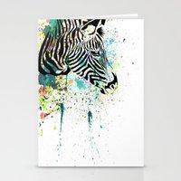 zebra Stationery Cards featuring Zebra by Del Vecchio Art by Aureo Del Vecchio
