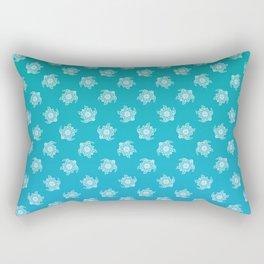 Mandala Turtle Pattern Teal Rectangular Pillow