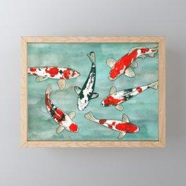 Le ballet des carpes koi Framed Mini Art Print