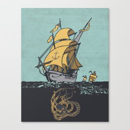 The Secrets of the Sea Canvas Print