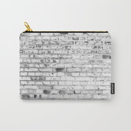 Withe brick wall Carry-All Pouch