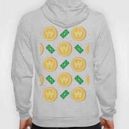 Korean won pattern background Hoody