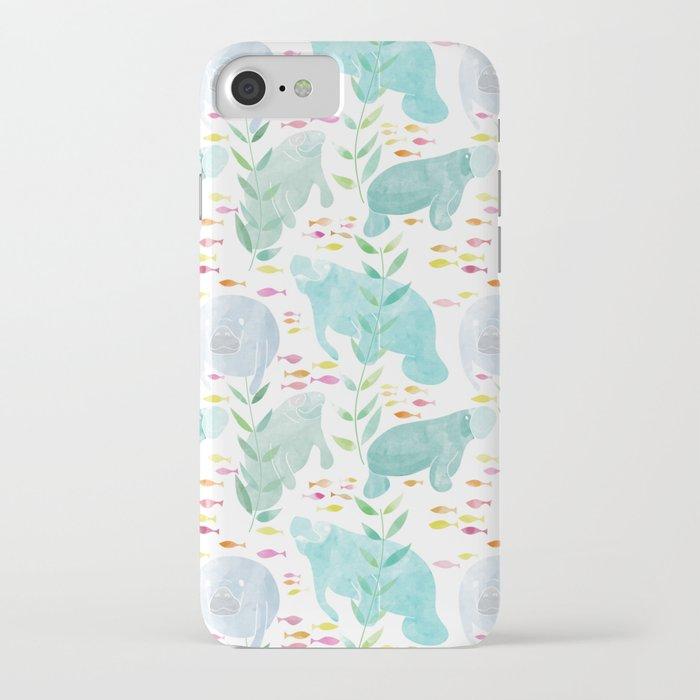 Lazy Manatees iPhone Case
