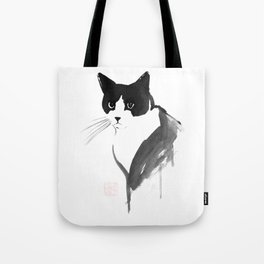 quiet cat Tote Bag