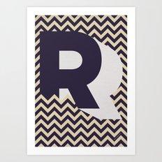R. Art Print