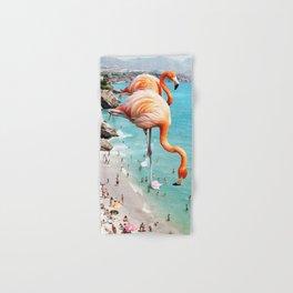 Flamingos on the Beach #society6 #decor #buyart Hand & Bath Towel