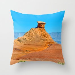 Navajo Sandstone Throw Pillow