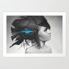 Feather Blue Art Print