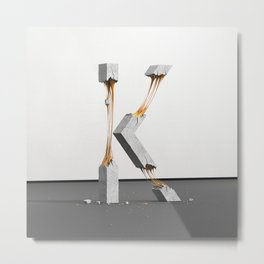 Konstrukt Letter K Metal Print