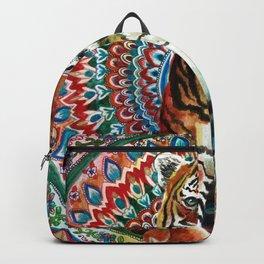 Tiger Watercolor Yoga Mandala Backpack