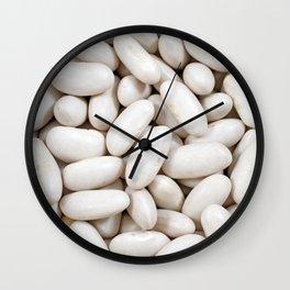 White kidney beans Wall Clock