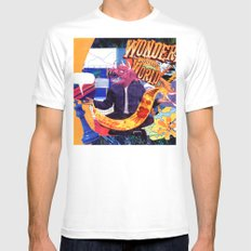 Wonders of the World MEDIUM Mens Fitted Tee White