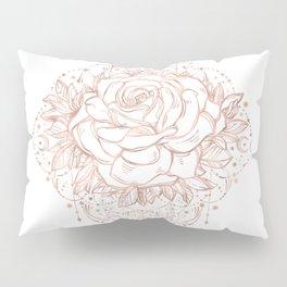 Mandala Lunar Rose Gold Pillow Sham