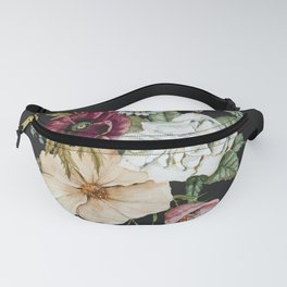 Colorful Wildflower Bouquet on Charcoal Black Fanny Pack