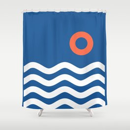 Nautical 03 Seascape Shower Curtain