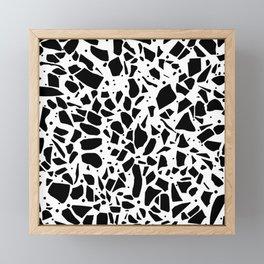 Terrazzo Spot White Framed Mini Art Print