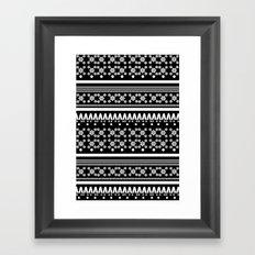 Christmas Jumper Black Framed Art Print
