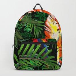 Tropical ,tiger illustration  Backpack