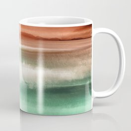 """Rose Orange Sky over Teal Emerald South Sea"" Coffee Mug"