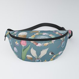 HAppy Easter pattern. Fanny Pack