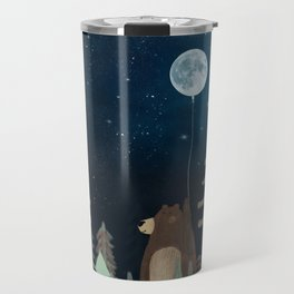 the moon balloon Travel Mug