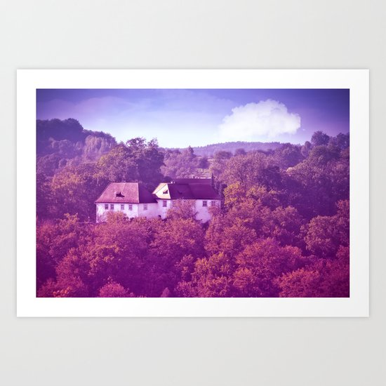 The castle behind the seven hills Art Print