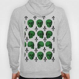 Green Skulls Hoody