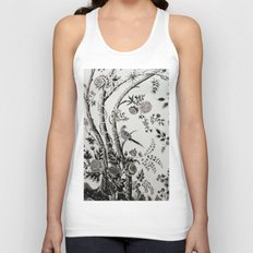 Peacock Tree Natural Unisex Tank Top