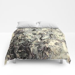 Texture Overlay Abstract Design Comforters