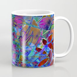 Floral Abstract Stained Glass G174 Coffee Mug