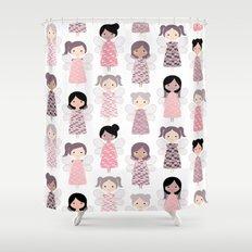 Yarn angels Shower Curtain