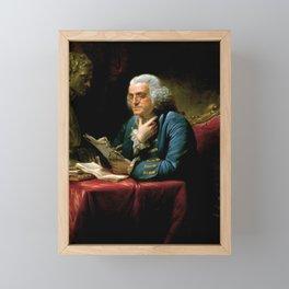 Benjamin Franklin by David Martin, 1767 Framed Mini Art Print