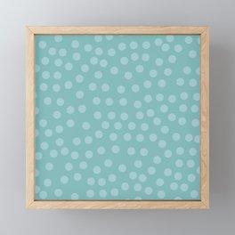 Self-love dots - Turquoise Framed Mini Art Print