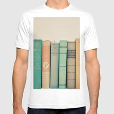 Literary Gems I MEDIUM White Mens Fitted Tee