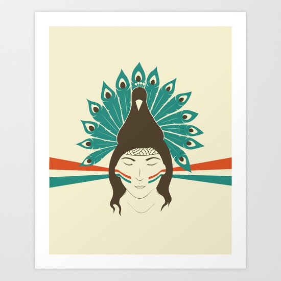 The princess and the peacock Art Print