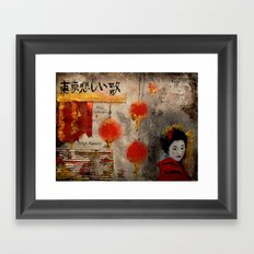 TOKYO SAD SONG Framed Art Print
