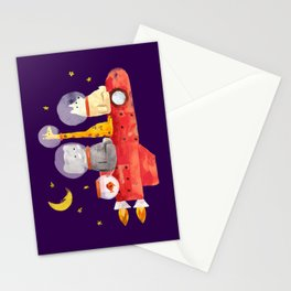 Let's All Go To Mars Stationery Cards