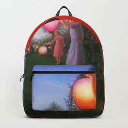 Classical Magic Realism Masterpiece 'Garden Party' by George Tooker Backpack