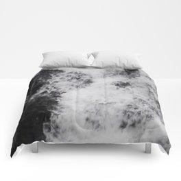 Foaming Waterfall Pareidolia Comforters
