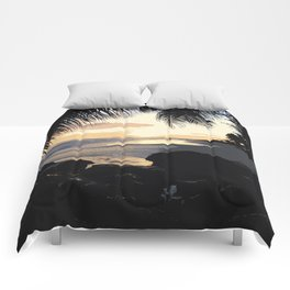 Dover Beach Sunset Comforters