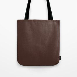 Solid dark brown Tote Bag