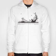 Secret Garden Black and White Illustrated Quote Hoody