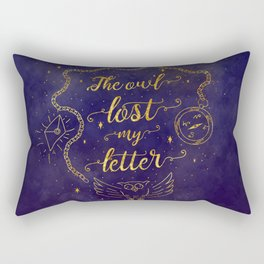 The owl lost my letter Rectangular Pillow