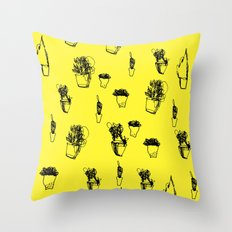 Plants and Planters botanical Throw Pillow