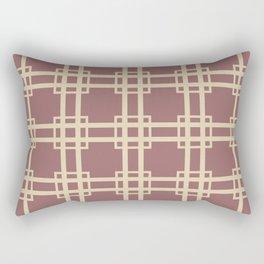 Plum Spice Moods Lattice Rectangular Pillow