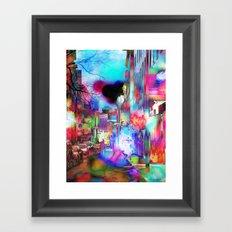 Boston Lights Remix Framed Art Print