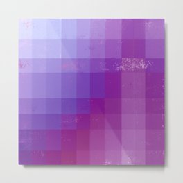 Geometric Purple and Pink Metal Print