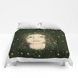 Self Portrait In Abstract Comforters