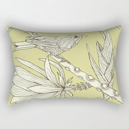 Bird on Orchid Cactus Rectangular Pillow