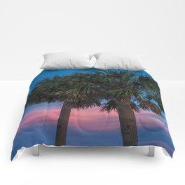 Sunset Palms Comforters